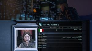 Il est possible de laisser une pensée pour vos soldats tombés au combat. ici Ana Ramirez, victime du tutorial.